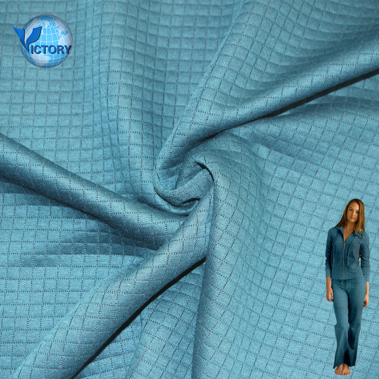 Free sample 100% polyester knitted fabric ,square quilted fabric online shopping