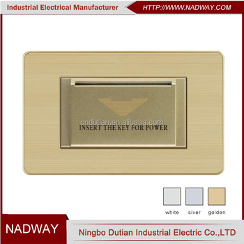 USA standard America 118type 15A 110V hotel power card switch