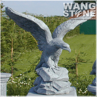Fierce Eagle Stone Sculpture For Outdoor Decor
