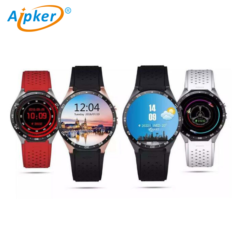 MTK6580 Android 5.1 3G <strong>WIFI</strong> KW88 smart watch with Heart rate