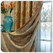 Colorful wholesale 100% polyester chenille luxury jacquard hotel quality blackout curtains