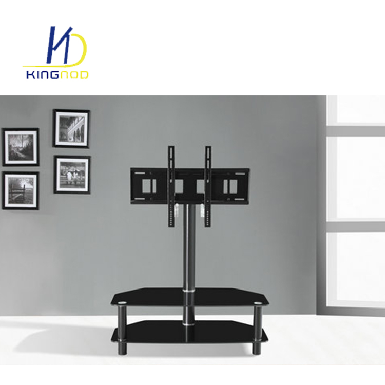 Design Living Room Furniture Lcd Led Modern Stainless Steel Glass Tv Stand With Led Lighting