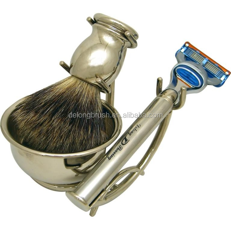 Silvertip Badger Shaving Brush with Luxury Chrome Handle