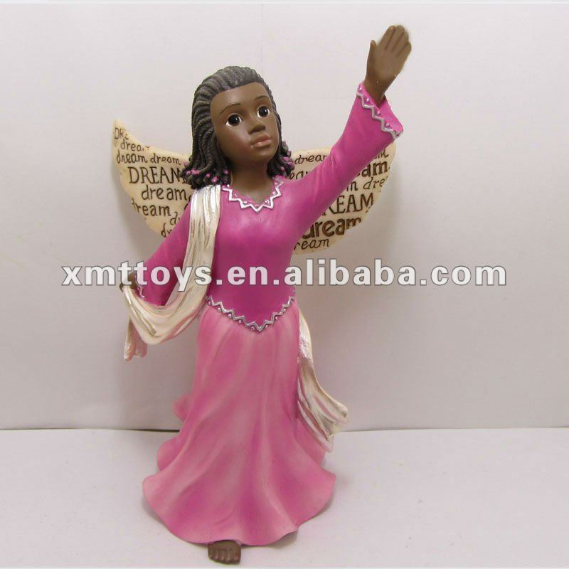Pink girl magic resin angel