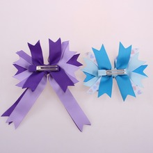 hair accessorie/noble polyester ribbon bow 4 inches for women