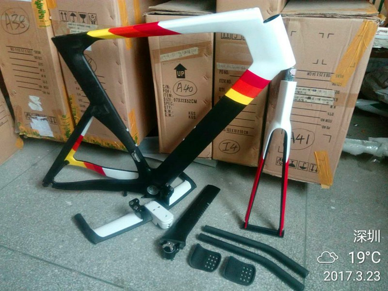 Baolijia OEM 2016 Carbon Time Trial Bicycle Frame TT FM087