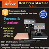 2 work stations Pneumatic heat press textile printer price