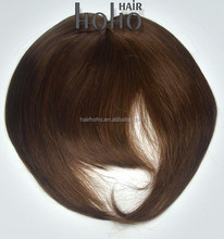 Top sell hair extensions 6 inch clip in 100 human hair bangs