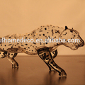 Mouth blown Glass Crafts Cheetah Shaped Glass Bottle And Customized Offer