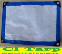 160G PE Tarpaulin sheet with Blue/White Col for Truck Cover