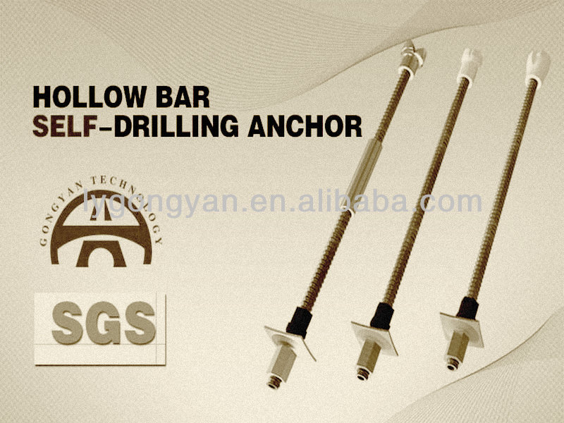 Mining support self drilling anchor hollow rock bolts