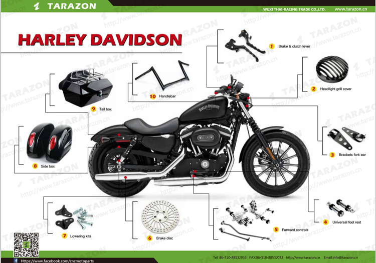 Custom aftermarket motorcycle handlebar controls for harley