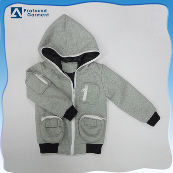 OEM full zipper collar pocket hoodie children boys hoodies