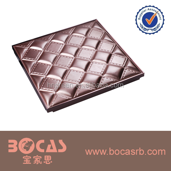 Interior Decorative Foam PU Leather Carved 3D Wall Board