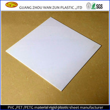 Offset printing glossy white plastic rigid pvc sheet for making cards