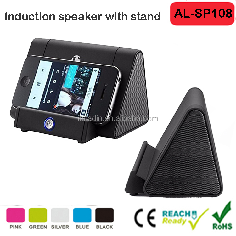 Portable Wireless Speaker Induction Speaker Magic Near Field Touch Amplifier with Stand for Phone