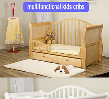 2017new design pine wood baby crib used toddler beds for sale