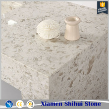 Customized high grade seashell quartz countertop