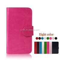 factory price phone cases wallet leather cover case for Lenovo A208T