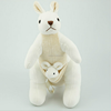 China factory free sample 100%organic Mother-Child Kangaroo Stuffed Animal Gift Logo Printing On Scarf