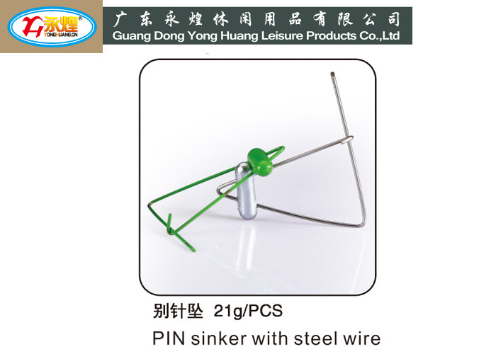 21G quality die casting sinker fishing tackle accessories brooch shaped sinker,lead weight for fishing