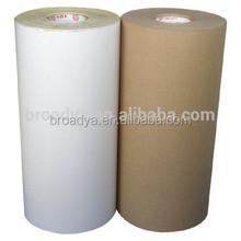 Brown silicone coated release paper kraft paper roll