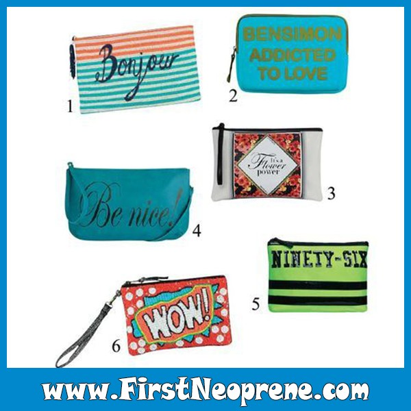 Customized Printing High Quality Travel Neoprene Cosmetic Bag