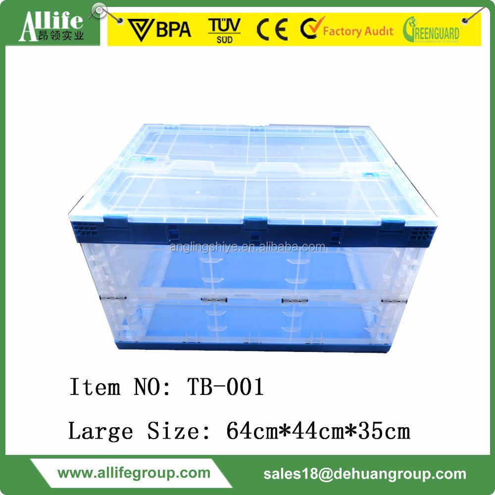 Foldable Plastic Storage Boxes For Household Clothing