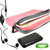 Laptop Accessories Kit Pink Form Fit Neoprene Sleeve Cover Case