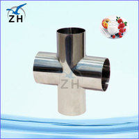 stainless steel cross 6 way pipe fitting socket weld and npt thread pipe fitting