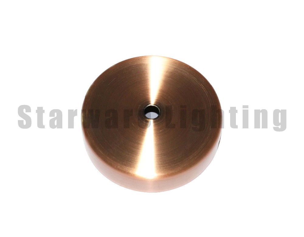 100mm Red Copper canopy Rose Gold metal ceiling rose for DIY Pendant Lamp
