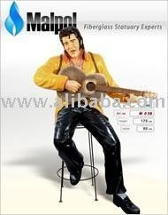 Fiberglass Life-size Elvis Presley playing guitar