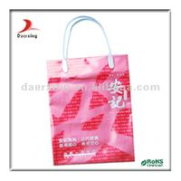 High quality plastic loop handle packaging bag