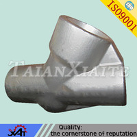 customized steel casting pipeline valve parts pipe fitting tee