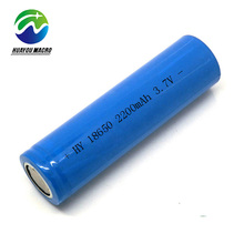 Rechargeable 3.6V Cylinder 2200 Mah Cell 18650 2200Mah Li Ion Battery