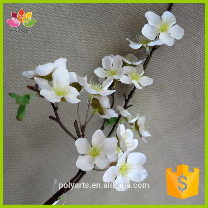 "29"" Apple blossom artificial flowers, high end artificial apple tree branches, indoor apple blossom branch"