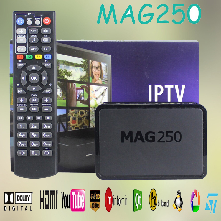 2017 hot sale Linux System1000+ channels download android tv box mag 250 iptv satellite receiver