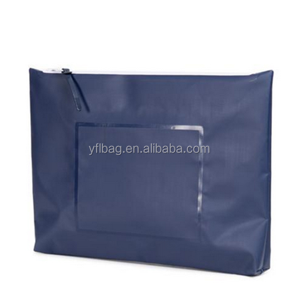 waterproof dry document stationery bag with waterproof zipper for ipad