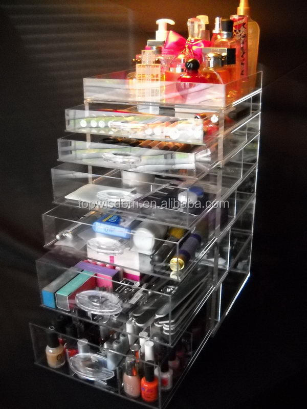 Excellent quality professional acrylic desk organizer with tray