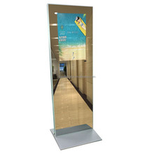 Personalized 24'' kiosk lcd mirror advertising display,great floor stand magic mirror