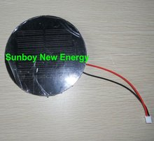 Small Round Solar Panel with Connecting Wire