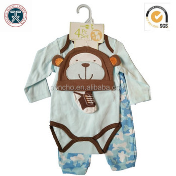 100% Cotton Baby Suits Baby T-shirt And Trouses Baby Clothes