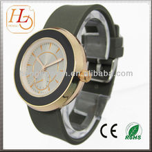 2013 hot fashion geneva ladies silicone rubber band watch