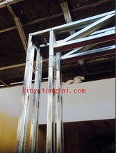 Galvanized steel metal stud frame with gypsum board