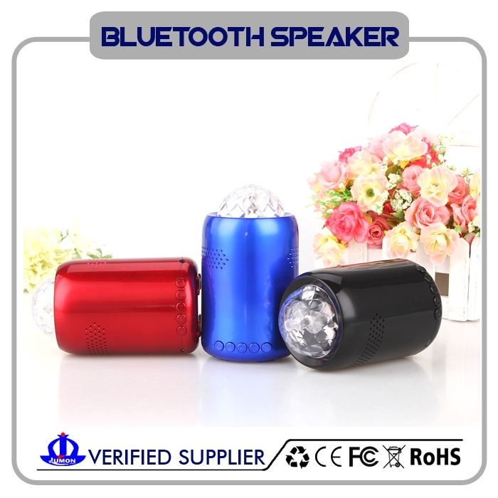 Wireless portable bluetooth speaker music pulsing dazzle colour 360 degrees LED lights
