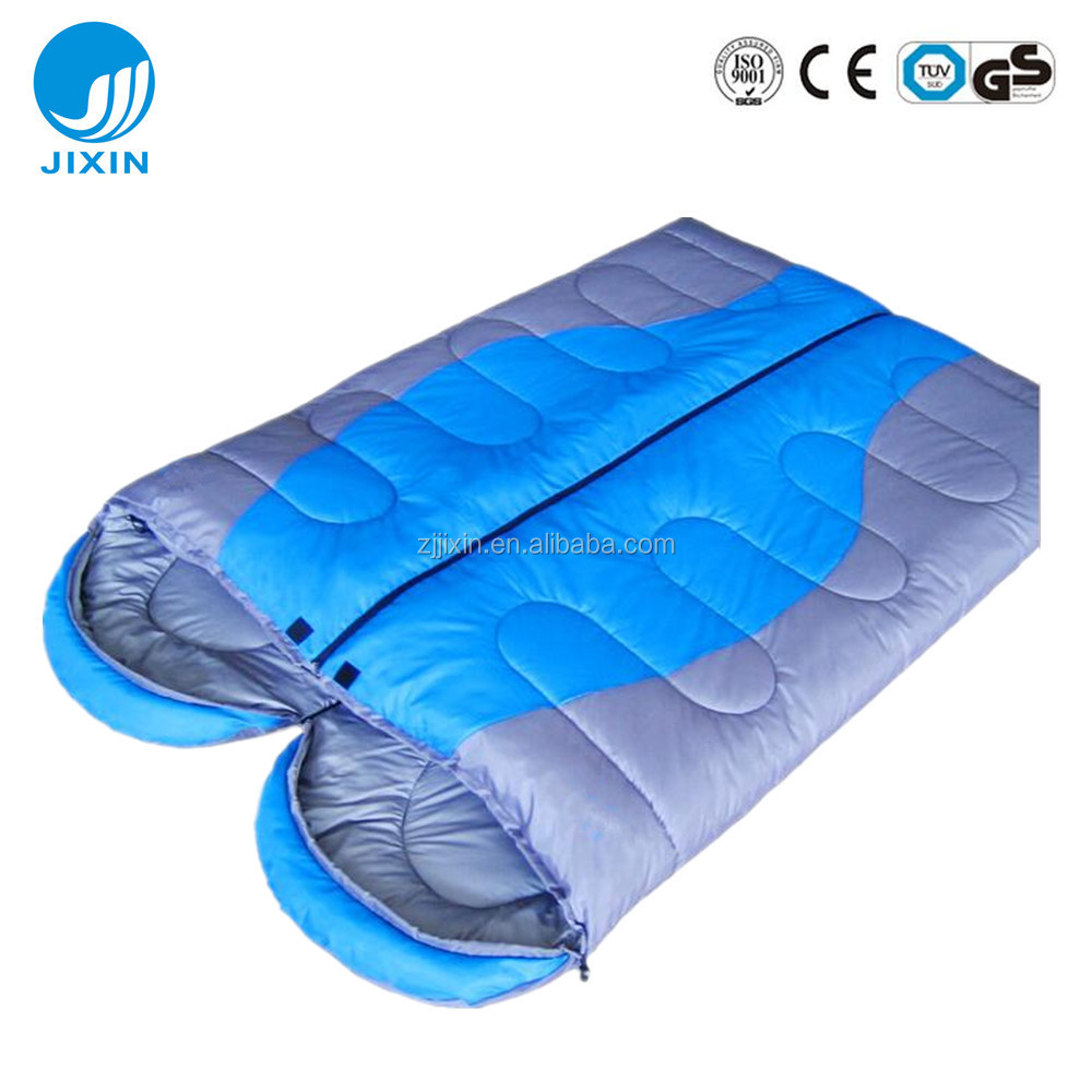 Double hollow fiber camping sleeping bag
