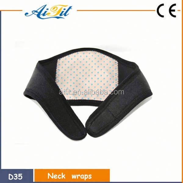 2016 new products neck physical therapy support wrap warmer neck wrap with far infrared heating