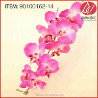 Cheap manufacture preserved artificial yellow orchids