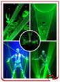 Single green magic laser dancing equipments for bar laser show peformance