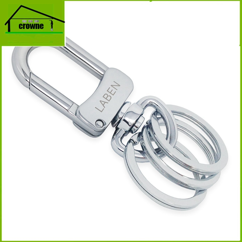 customized logo promotional man's gift multi-rings classical detachable keyrings for key